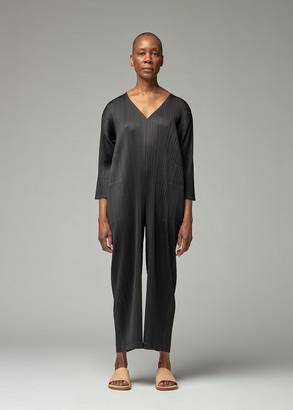 Pleats Please Issey Miyake Women's Long Sleeve Jumpsuit in Black Size 3