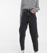 Weekday Meg organic cotton mom jean in washed black