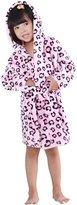 Aivtalk Kid's Hooded Bath Robe Sleepwear Pajamas, 2 - 7 Years, Dot print