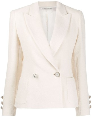Alessandra Rich Double-Breasted Slim-Fit Blazer