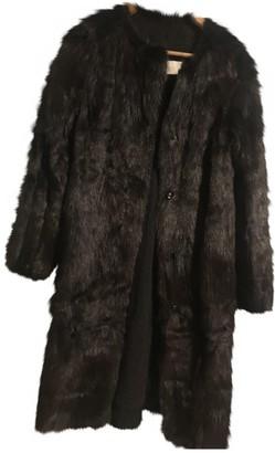 Chloé Grey Rabbit Coat for Women