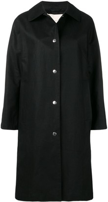 MACKINTOSH Black Storm System Linen Coat LM-079ST/P