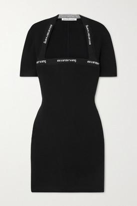 alexanderwang.t Intarsia Stretch-knit Mini Dress - Black