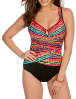 Miraclesuit Night Light Layered Escape One-Piece Swimsuit