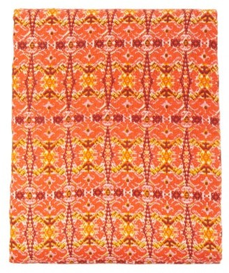 Les Ottomans - Block-printed 250cm X 150cm Cotton Tablecloth - Red Print