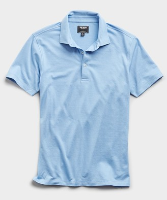 Todd Snyder Fine Pique Polo in Light Blue