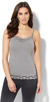 New York & Co. Lurex Lace-Trim Camisole