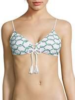 Tory Burch Women's Isle Rope Lace-Up Bikini Top