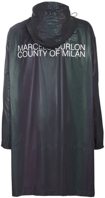 Marcelo Burlon County of Milan Reflective Logo Tech Raincoat