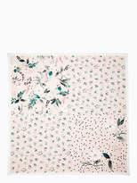 Kate Spade Botanical patchwork silk square scarf