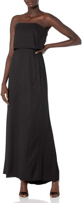 Halston Women's Strapless Tiered Top Slim Embellished Gown