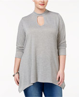 ING Trendy Plus Size Mock-Neck Tunic