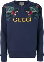 Gucci wolf head appliqué sweatshirt