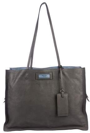 9ff698d4564a Prada Grey Bag - ShopStyle