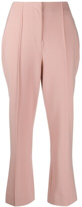 Jonathan Simkhai High-Rise Pintuck Cropped Trousers