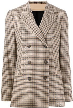 Brunello Cucinelli Crystal-Embellished Tweed Blazer
