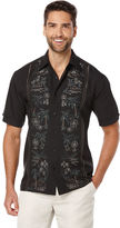 Cubavera Short Sleeve Embroidered Tropical Panel
