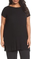 Eileen Fisher Plus Size Women's Bateau Neck Ribbed Tunic