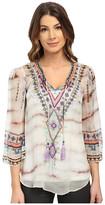 Hale Bob Wearable Art Silk Chiffon Blouse