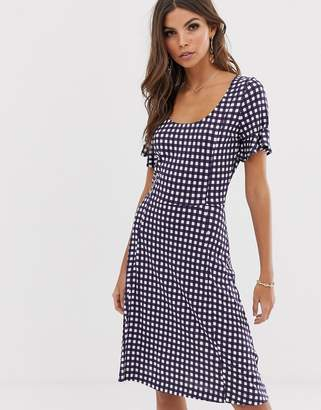 French Connection gingham print dress-Black