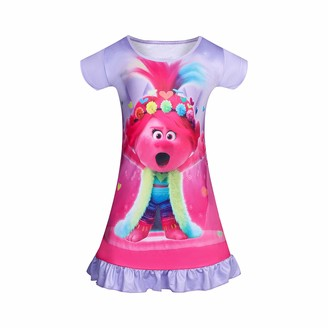 Y2m Princess Nightdress Toddler Girls Nighties Kids Queen Nightgowns Pajama Sleepwear Dressing Gown with A Film Character