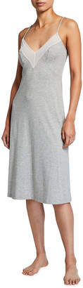 Cosabella Ryleigh Lace-Trim Jersey Nightgown