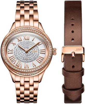 JBW J6366-SetC Rose Gold-Tone Plaza Diamond Watch & Band Set