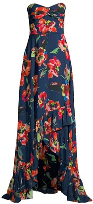Shoshanna Leros Floral Strapless Dress