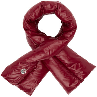 Moncler Red Down Scarf