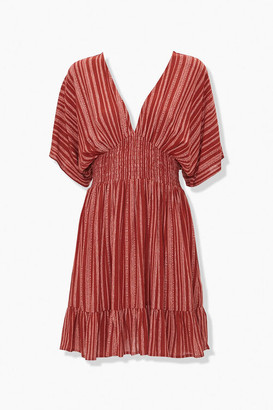 Forever 21 Plunging Striped Mini Dress