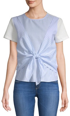 ENGLISH FACTORY Tie-Front Top
