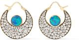 Noor Fares - Chandbali 18-karat Gold, Opal And Diamond Earrings