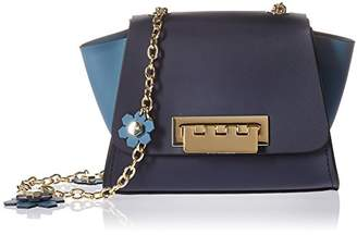 Zac Posen Eartha Mini Crossbody-Colorblock w/Floral Charm Chain