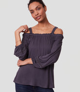 LOFT Lacy Ruffle Off The Shoulder Top