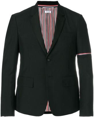 Thom Browne Rwb Armband Silk Lapel Sport Coat