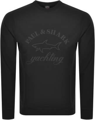 Paul & Shark Paul And Shark Crew Neck Logo Sweatshirt Black