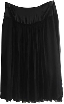 Atelier Stills Black Silk Skirt for Women