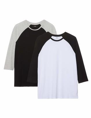 Find. Amazon Brand Men's Short Sleeve Cotton Ringer T-Shirt Pack of 2