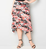 Avenue Graphic Floral Handkerchief Skirt