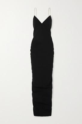 Rick Owens Cotton-blend Crepe Gown - Black