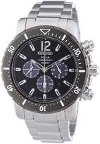 Seiko Men's SSC245 Metallic Stainless-Steel Quartz Watch