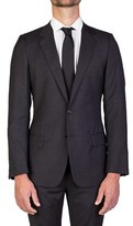 Christian Dior Men's Virgin Wool Two-button Suit Charcoal Grey.