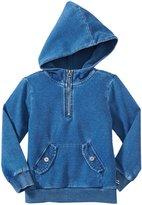 Splendid Indigo Knit Pullover Hoodie (Toddler/Kid) - Indigo-7