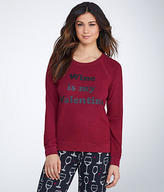 PJ Salvage Wine Is My Valentine Knit Sleep Top