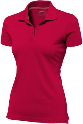 Slazenger Advantage Short Sleeve Ladies Polo (M) (Red)