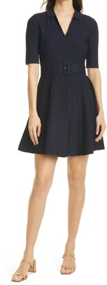 Ted Baker Aleee Collared Knit Skater Dress