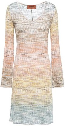 Missoni Degrade Metallic Crochet-knit Mini Dress