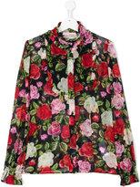 Miss Blumarine Teen floral print shirt
