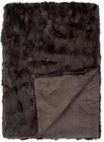 Adrienne Landau Fur Throw Blanket