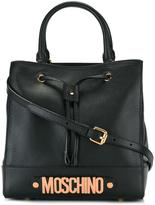 Moschino drawstring tote - women - Leather - One Size